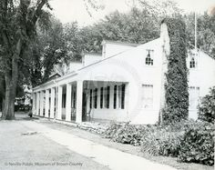 Fort Howard Hospital - This photograph of the Fort Howard hospital was taken ca. 1950. The hospital was built for Fort Howard in the 1830s. After the decommissioning of the fort, the hospital was moved to the corner of Kellogg and Chestnut streets. It is now currently located within the Heritage Hill State Historical park.