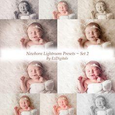 10 Newborn Baby Lightroom presets, Baby presets, Newborn presets, Portrait presets, Wedding Presets, Photography Presets by EzDigitals on Etsy