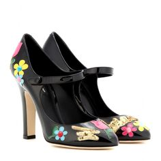 Dolce & Gabbana's black patent leather pair Mary Jane style.