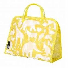 Animal Print Cosmetic Bag (ROOTOTE SPAROO-Pattern-D) Yellow--One Size
