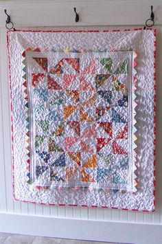 Pinwheel Baby Quilt « Moda Bake Shop (charm quilt)