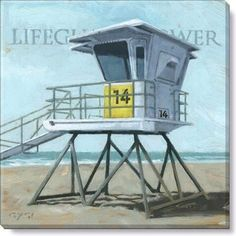 Gallery Wrap on Wood Frame ~ Lifeguard Tower