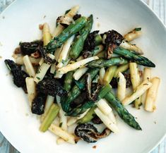 Asparagus with Morels and Tarragon Photo - easter appetizers and side dishes Recipe Slideshow at Epicurious.com