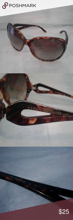 😎 Armani Exchange Sunglasses 😎 😎 Armani Exchange tortoise shell sunglasses. These sunglasses have some scratches on the lenses but they don't impair vision.   🌟Note these sunglasses are in used condition so please review the pictures carefully and ask any questions🌟 Armani Exchange Accessories Sunglasses