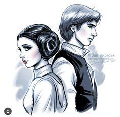 Daniel Kordek Disney Star Wars Princess Leia and Han Solo