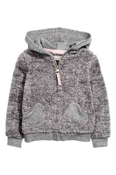 H&M - Hooded pile jacket £12.99