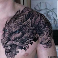 Now this is one of the best dragon tattoos I've ever seen! I've always had a connection to dragons, but not the Chinese ones. Slpotter