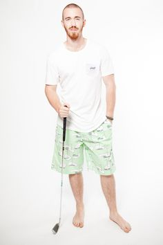 Play a Round mens pyjama pants with the mens Give us a T!Shirt in white. Both 100% organic cotton. www.thegoodnightsociety,com.au