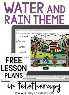 Make spring lesson planning for teletherapy EASY with this list of links to rain-themed activities that target a variety of speech and language goals. Build your own lesson plan using this round up that includes a virtual experience, Boom Cards, books, videos, interactive activities, and more! You'll have something for any goal, any age ready to go on Monday morning and all week long! Lesson Planning, Menu Planning, Water Cycle, Interactive Activities, Monday Morning, Speech And Language, Speech Therapy, Lesson Plans, Target