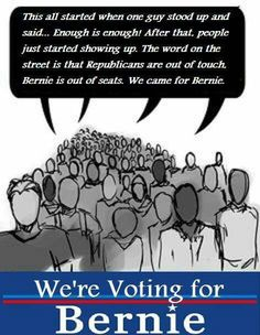 Vote Bernie Sanders for President! #BernieSanders2016  For more information on #BernieSanders  -->  FeelTheBern.org berniesanders.com sanders.senate.gov Are you in a closed primary election state? Change your party registration to democrat to be able to vote for #Bernie in the primary elections! Voteforbernie.org #FeelTheBern