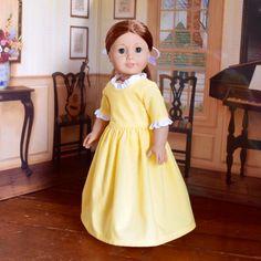 Elizabeth's Yellow Book Illustration Dress