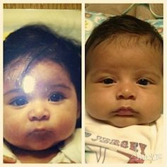 It's snooki and her baby wow they look alike 100%