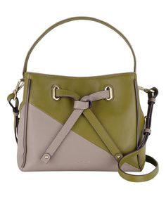 Look what I found on #zulily! Green Two-Tone Leather Satchel #zulilyfinds
