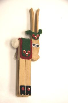 Reindeer Clothes Pin Christmas ornament, I still have one of these