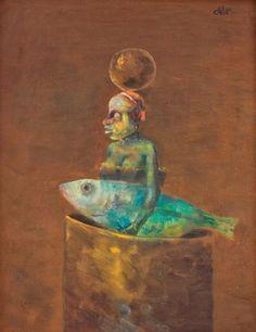 Coloană (Fată cu peşte)