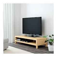 $49 IKEA - LACK, TV unit, birch effect, , The opening at the back allows you to easily gather and organize all wires.