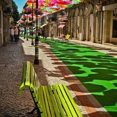 Color and creativity on the street.