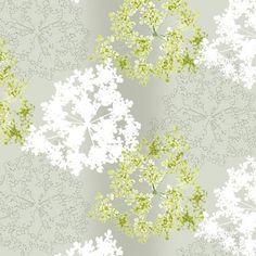 Green White Floral wallcovering :AD007   Astek Inc Digitals