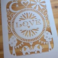 Love by Claires Paper cuts available on www.totallytemplates.co.uk Colouring Pages, Adult Coloring Pages, Paper Cutting Templates, Silhouette Portrait, Book Folding, Crafts To Sell, Cross Stitch, Cricut, Paper Crafts