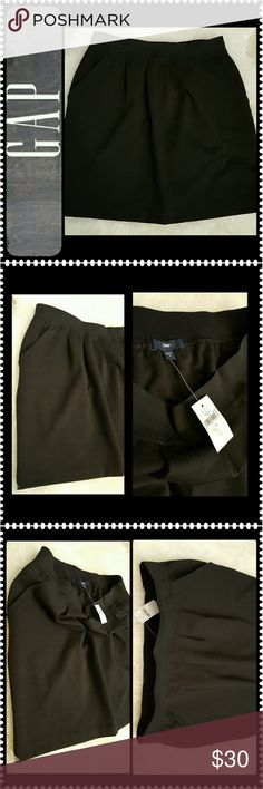Gap Black Skirt New Gap Signature Garter Waist Style Skirt, with a Blend of Spandex Material, Length about 18 inches GAP Skirts