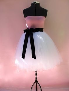 Pink Cotton and Tulle Party Dress