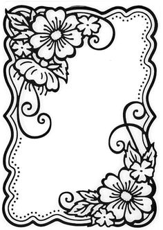 Hot off the Press - Embossing Folder - Flower Corners Más Leather Tooling Patterns, Leather Pattern, Wood Burning Patterns, Wood Burning Art, Fun Diy Crafts, Paper Crafts, Colouring Pages, Coloring Books, Embroidery Patterns