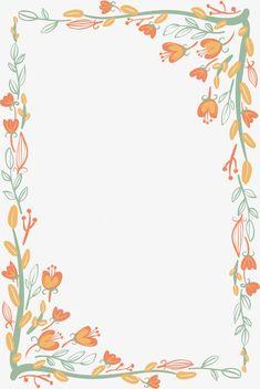 Orange Wallpaper, Flower Background Wallpaper, Flower Backgrounds, Page Borders Design, Text Frame, Floral Banners, Borders For Paper, Vintage Lettering, Gold Pattern
