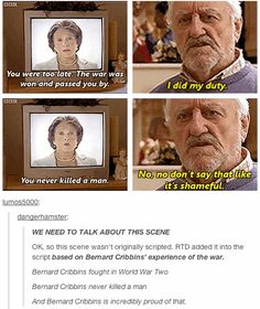 """The Story Behind This """"Doctor Who"""" Scene Will Make You Tear Up - BuzzFeed Mobile ------MAKES ME LOVE WILF ALL THE MORE"""