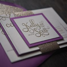 I love how these invites are assembled.  Way out of our price range.