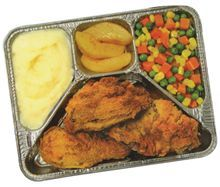 TV dinners in aluminum trays...I didn't get these often,