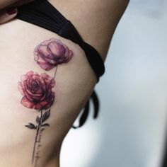 Rose and poppy by Tattooist Flower