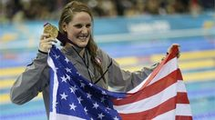 Four gold medals and a bronze, 17-year-old Missy Franklin in her first Olympic Games - London 2012 Olympics #olympics