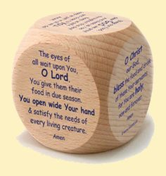 An Orthodox Mealtime Prayer Cube - love this idea!