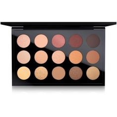 Mac Eyes x 15 Palette, Warm ($85) ❤ liked on Polyvore featuring beauty products, makeup, eye makeup, eyeshadow, mac cosmetics eyeshadow, mac cosmetics and palette eyeshadow