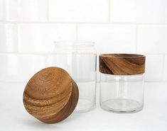 Wood Glass Canisters: Remodelista