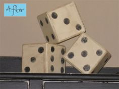 ugly old blocks turned into dice