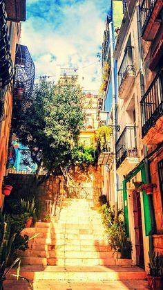 Junto al centro de la ciudad, en el casco antiguo de Alicante, los barrios de Santa Cruz y San Roque te regalan rincones como éste.