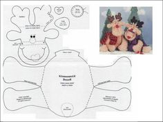 Risultati immagini per como hacer un bombillo navidad en flis Christmas Sewing, Felt Christmas, All Things Christmas, Christmas Crafts, Christmas Ornaments, Xmas, Felt Patterns, Stuffed Toys Patterns, Stitch Patterns