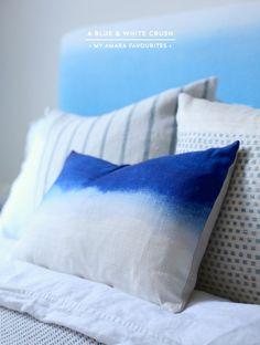 My ombre blue bedroom scheme