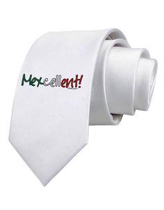TooLoud Mexcellent Flag Color - Cinco De Mayo Printed White Neck Tie