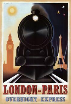 London-Paris Overnight Express Print by Steve Forney at Art.com