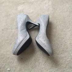 Sparkly prom shoes  Silver sparkly prom shoes with rhinestones, size 9, Offers welcomed Shoes Heels