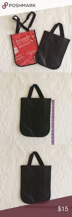 Lululemon Shopping Reusable Bags 2 Lululemon Reusable Bags. Small size. The black one has a shorter handle. Hard to find all black design. lululemon athletica Bags Totes