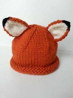 Adult+Fox+Beanie+Hat+ £20.00