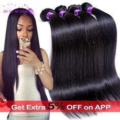 7A Grade Brazilian Virgin Hair Straight 4 Bundles Unprocessed Virgin Brazilian Straight Hair Weave Bundles Human Hair Extensions