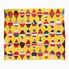 String Quilt Top – Sting Triangles | Mingei