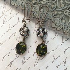 Beautiful vintage look earrings featuring by Tilliegirlstudio