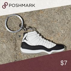 c58957e8 ... Shirts Tees - Short Sleeve. Nike Jordan Retro 11 Concord Black Shoe  Keychain •Item is 2D and one sided,