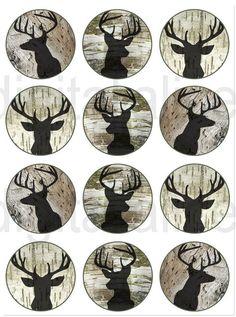 STAG DEER HEAD Craft Circles Deer Buck with by DigitalAlice