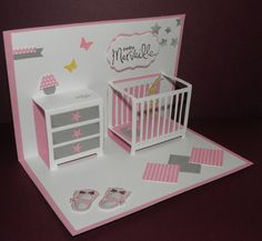 67 Trendy Ideas Baby Cards Pop Up Paper Crafts Tarjetas Baby Shower Niña, Baby Shower Cards, Pop Up Karten, Karten Diy, Homemade Greeting Cards, Homemade Cards, Kirigami, Baby Birthday Card, Pop Up Invitation